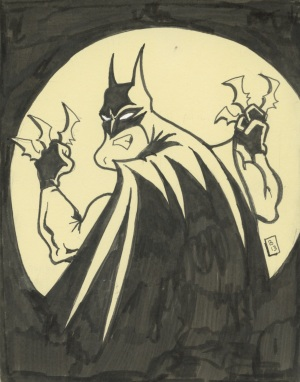 Batman gots him some batarangs